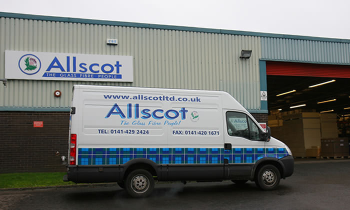 Allscot Glass Fibre Warehouse and Van